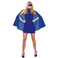 Super-Hero-Cape-&-Mask---Blue