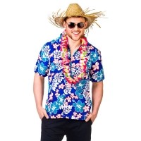 Hawaiian-Shirt---Blue-Flowers