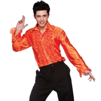 Orange-Disco-Ruffle-Shirt