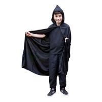 Childrens-Hooded-Cape---Black