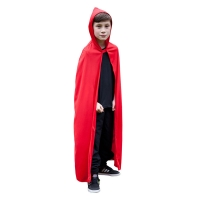 Hooded-Cape---Childrens-Size--RED