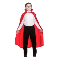 Deluxe Children's Satin Cape with Collar - RED (95cm)