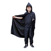 Childrens Hooded Cape - Black