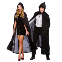 Black Cape with Hood  (132cm)