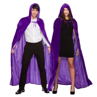 Deluxe Velvet Cape with Hood -Purple (140cm)