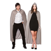 Grey Cape with Hood (Adult) - (132cm)