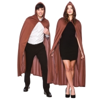 Brown Cape with Hood  (132cm)