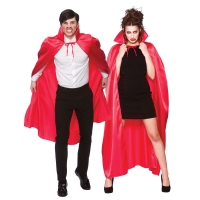 Deluxe Satin Cape with Collar (Adult) - Red