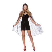 Deluxe Spider Web Cape with hood -  (98cm)