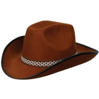 Brown Cowboy Hat with decorative band