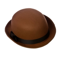 Brown Derby Hat