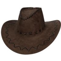Brown Suede Cowboy Hat