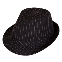 Fedora - Black with pinstripe