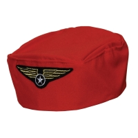 Flight Attendant Hat - Red