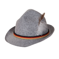 Oktoberfest Hat - Grey Red Yel