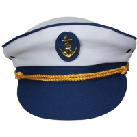 Sailor Captain Hat - White