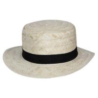 Straw Boater with Navy band