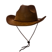 Super Deluxe Brown Suede Cowboy Hat