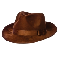 Top Quality Brown Suede Fedora