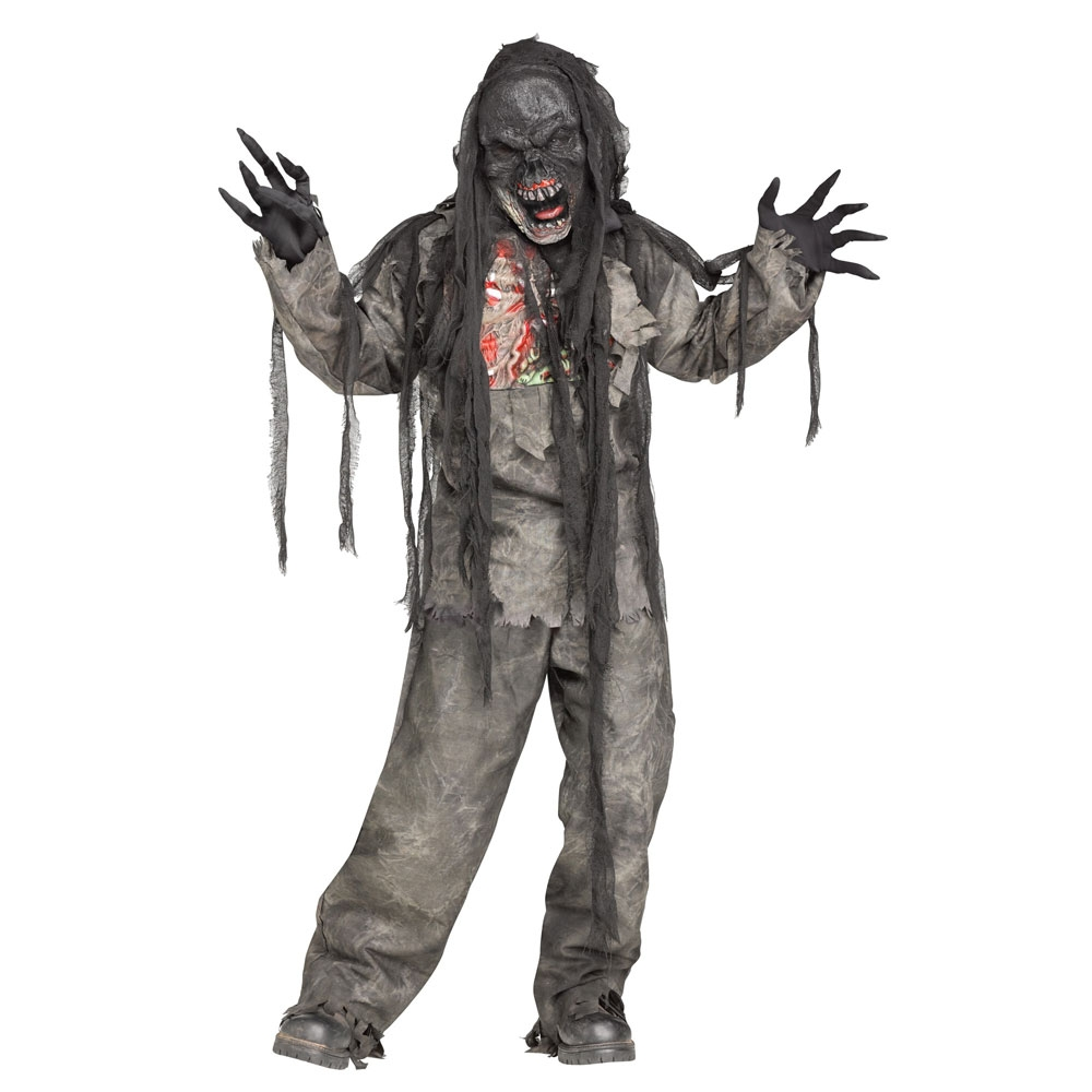 Adults Zombie Corpse Halloween Fancy Dress Costume Mens Undead Party Outfit